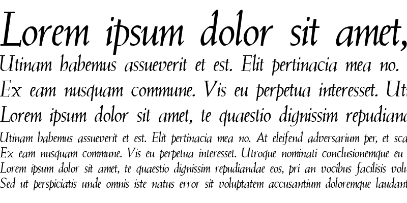 Sample of QTWeise Italic