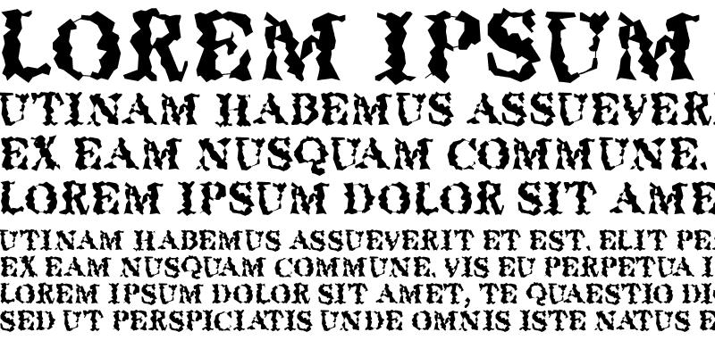 Sample of QuakeRoman Regular