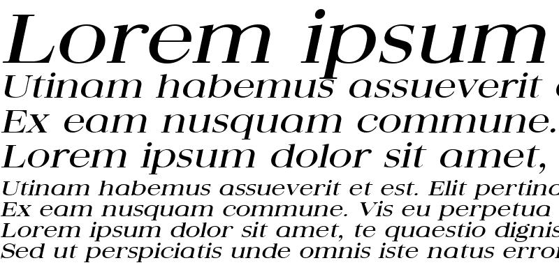 Sample of QuantasBroad Italic