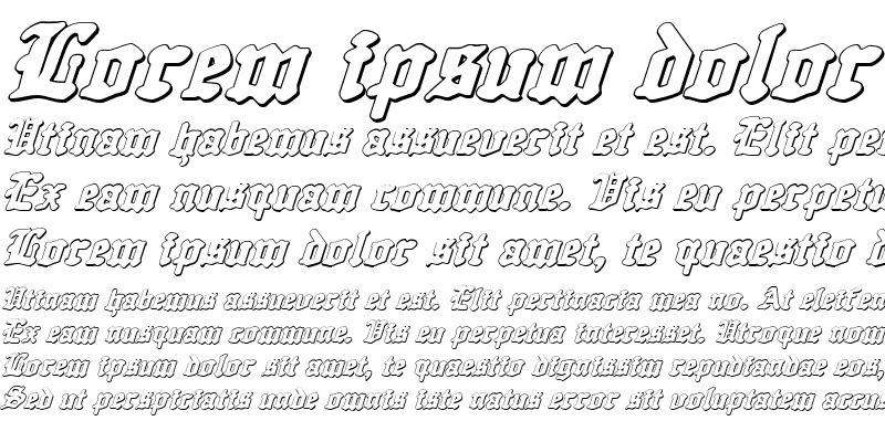 Sample of Quest Knight 3D Italic