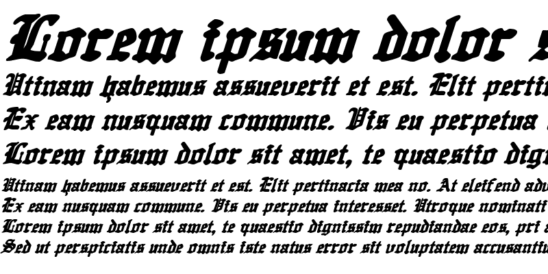 Sample of Quest Knight Italic