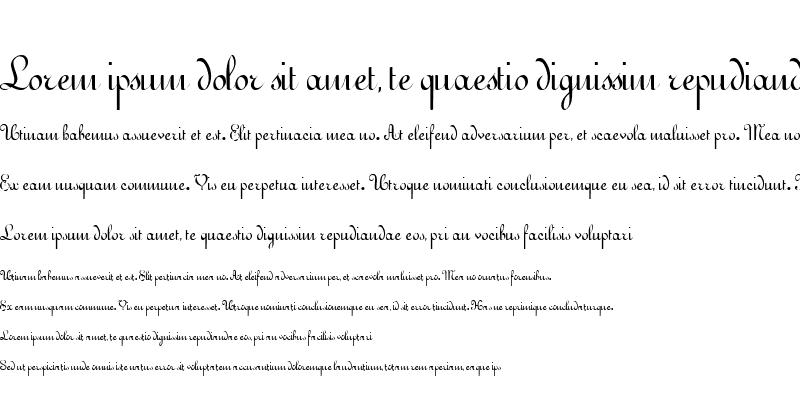 Sample of QuickScript Regular