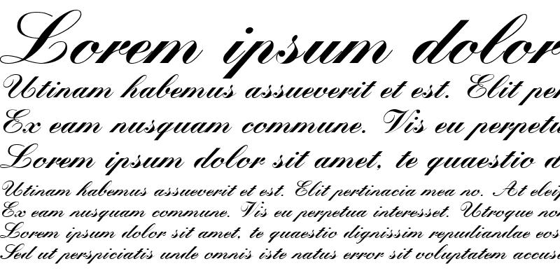 Sample of Quill Script Black SSi