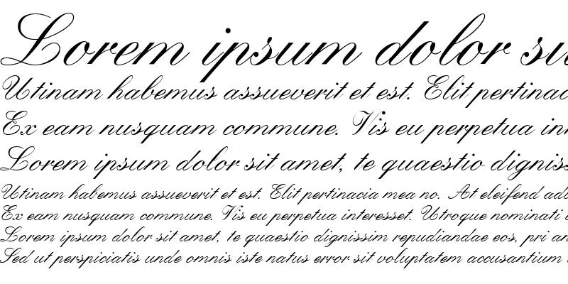 Sample of Quill Script SSi Regular
