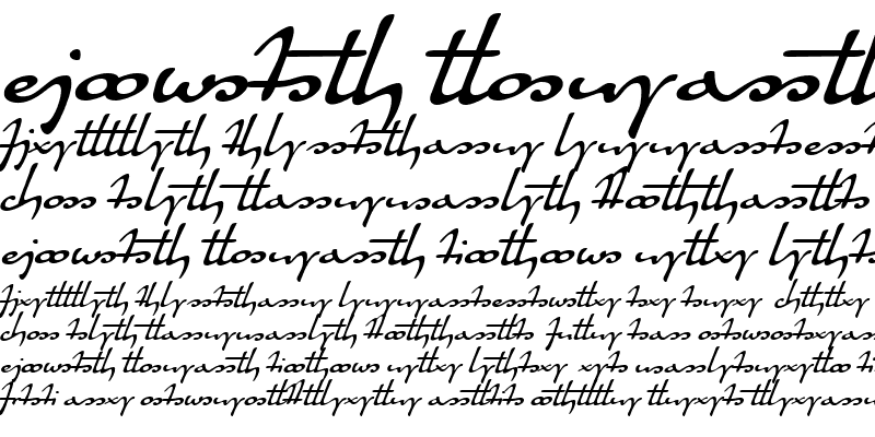 Sample of Quiller Ligatures Regular