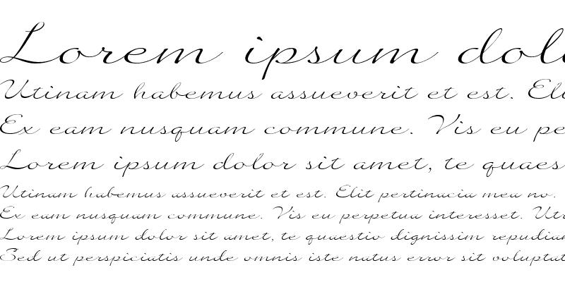 Sample of Quilline Script