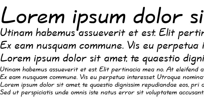 Sample of QuillScriptkern Normal