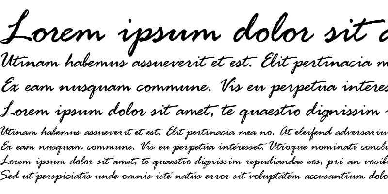 Sample of Rage Italic Alternate LET Plain