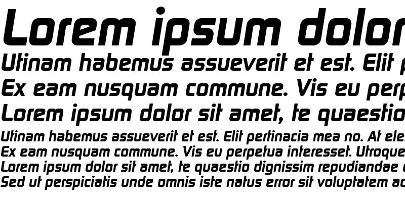 Sample of RandyBecker-ExtraBold Italic