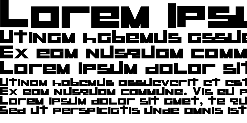 Sample of RaseGPL-Bold Bold