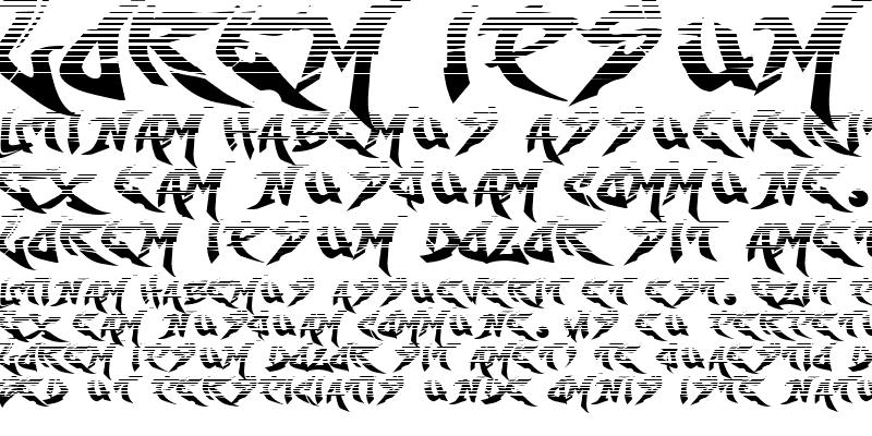 Sample of RaseOne-Fade Regular