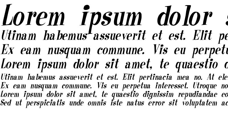 Sample of RaskinCondensed Italic