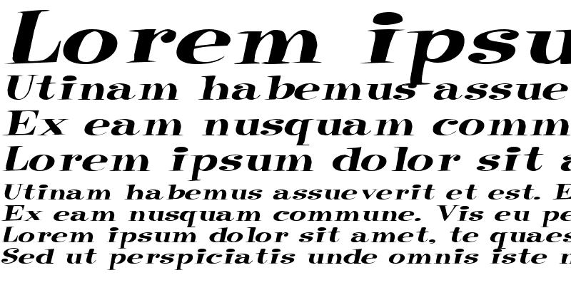 Sample of RaskinExtended Italic