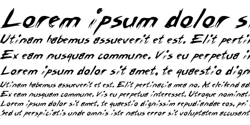 Sample of Rasp Italic
