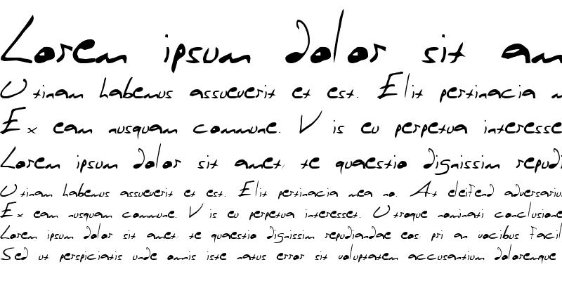 Sample of Rasputin 's Handwriting