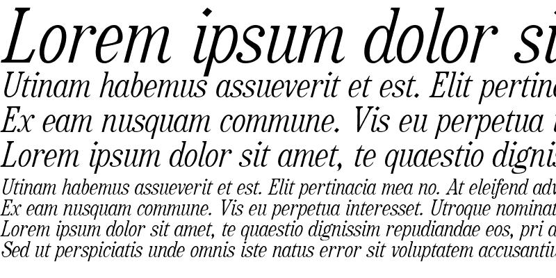 Sample of RataczakCond Italic