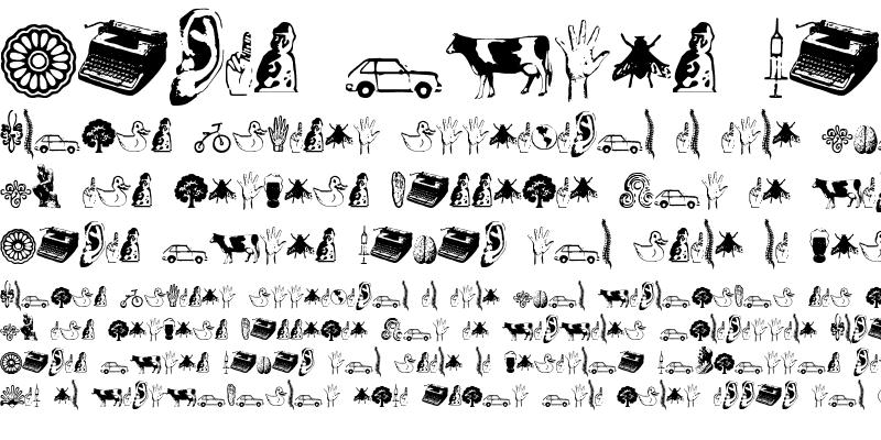 Sample of Recife Dings Dingbats