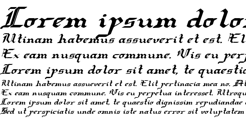 Sample of Redcoat Expanded Italic Expanded Italic