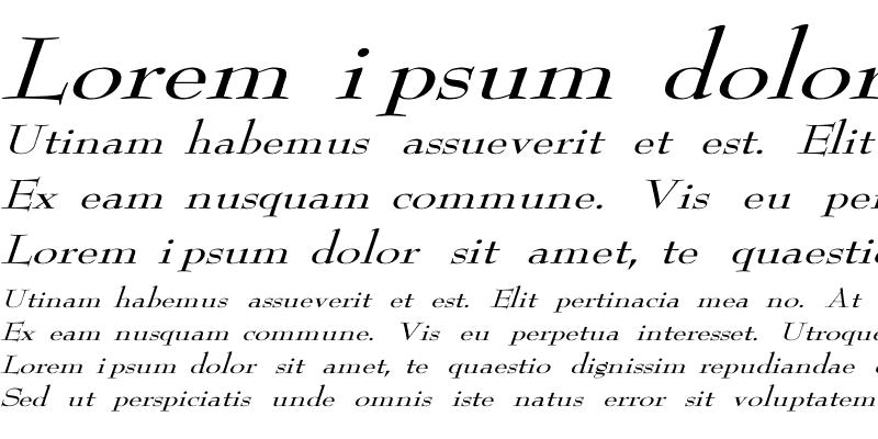Sample of ReedFont Wd italic