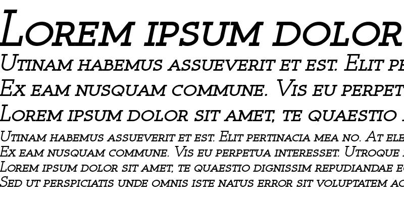 Sample of Register Serif BTN SC BoldOblique