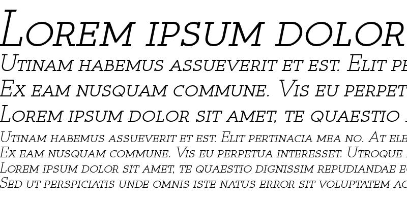 Sample of Register Serif BTN SC Oblique