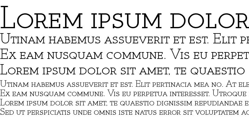 Sample of Register Serif BTN SC