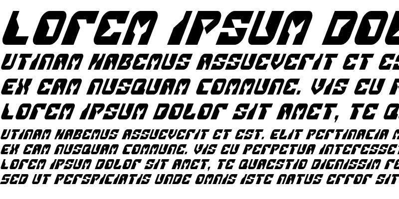 Sample of Replicant Condensed Italic Condensed Italic