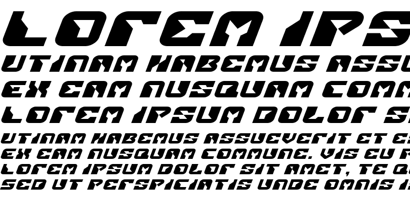 Sample of Replicant Expanded Italic Expanded Italic