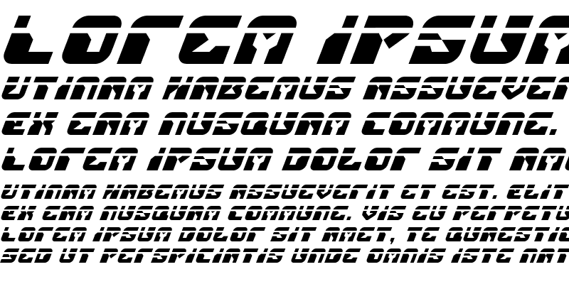 Sample of Replicant Laser Italic Laser Italic