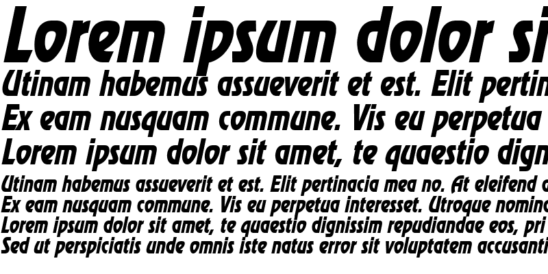Sample of Review Condensed Italic