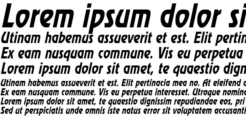 Sample of ReviewCondensedNarrow Italic