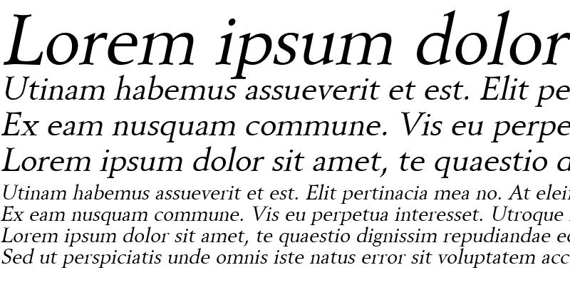 Sample of Revive8 Italic