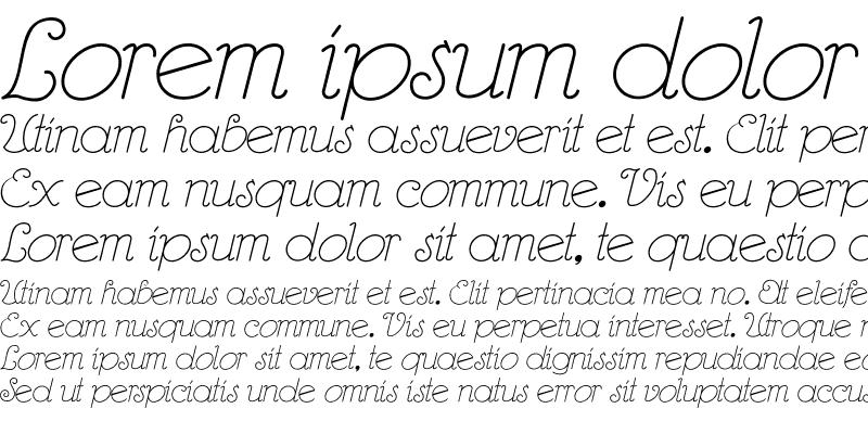 Sample of RhumbaScript Regular