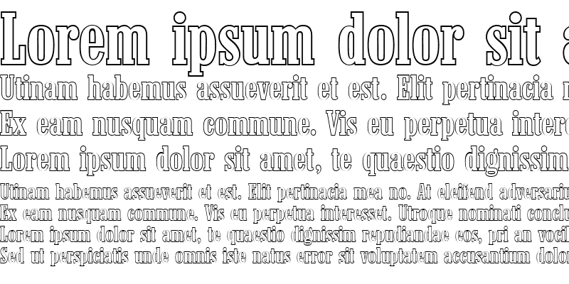 Sample of RobertBeckerOutline-Medium