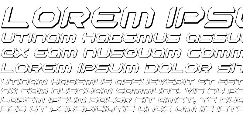 Sample of Robotaur 3D Italic