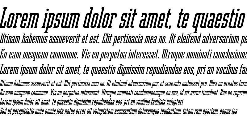 Sample of Robotik Italic