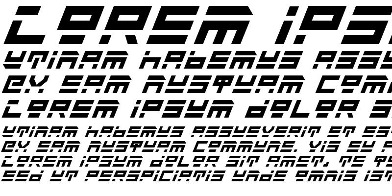 Sample of Rocket Type Bold Italic