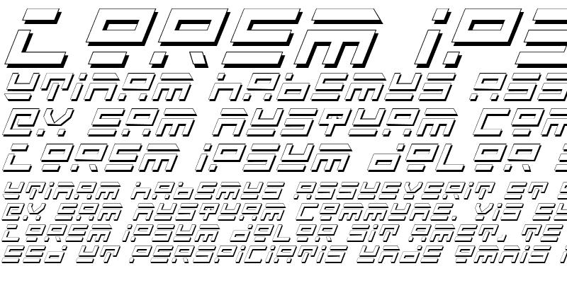 Sample of Rocket Type Shadow Italic