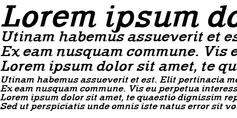 Sample of Rockford Bold-Italic