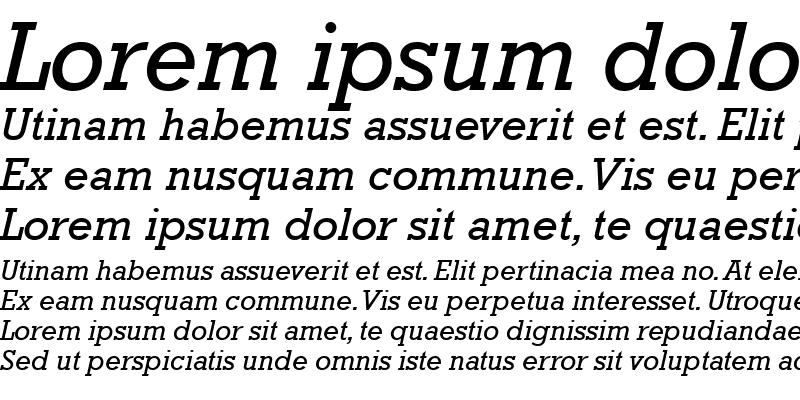 Sample of Rockwell Italic