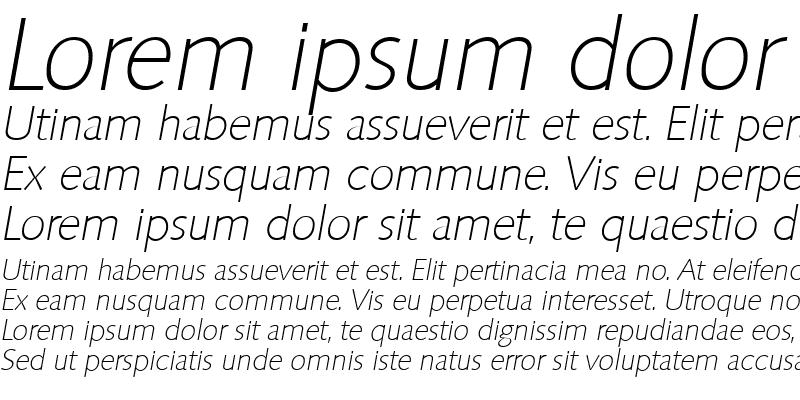 Sample of RogerBecker-ExtraLight Italic