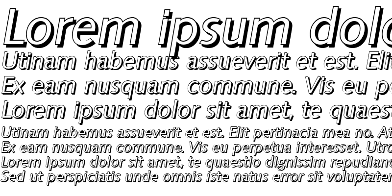 Sample of RogerBeckerShadow Italic