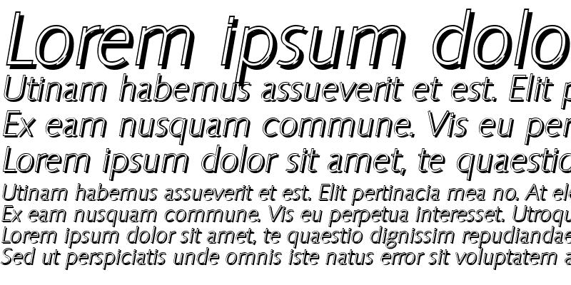 Sample of RogerBeckerShadow-Xlight Italic