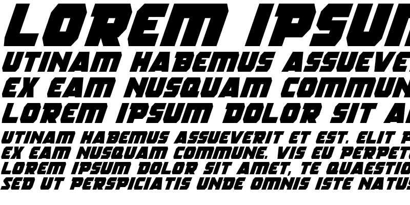 Sample of Rogue Hero Italic Italic