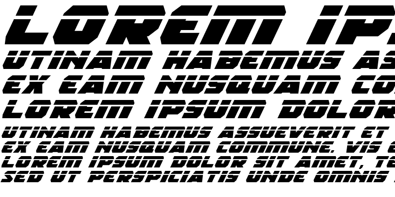 Sample of Rogue Hero LasEx Italic
