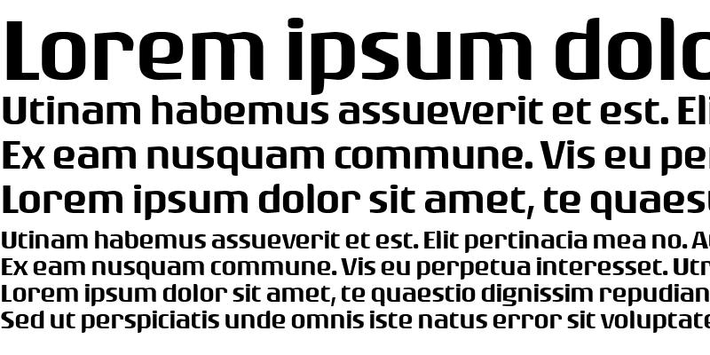 Sample of Rogue Sans Ext Medium