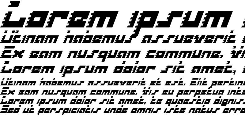 Sample of Roid Rage Italic