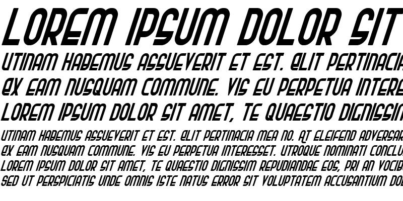 Sample of Ro'Ki'Kier Condensed Italic