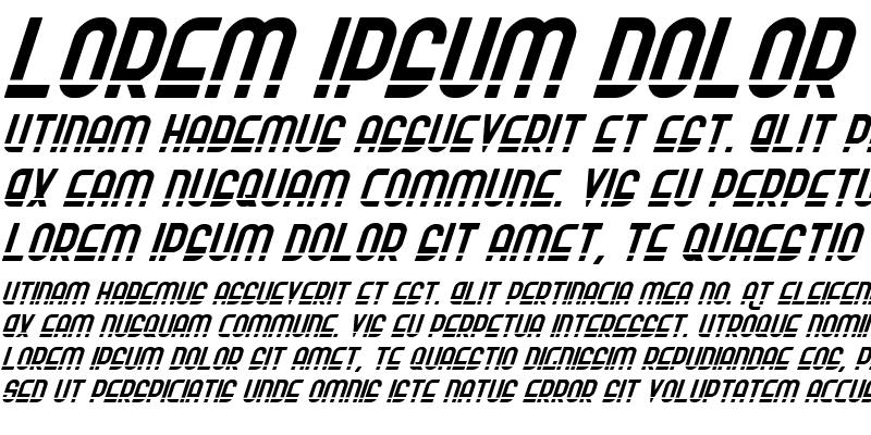 Sample of Ro'Ki'Kier Laser Italic