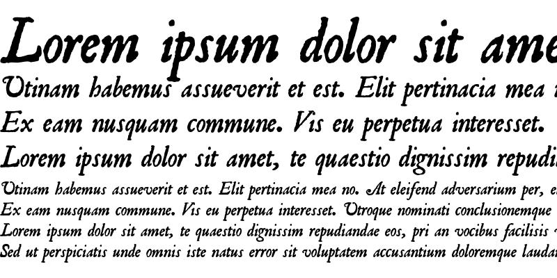 Sample of Roman Antique Italic
